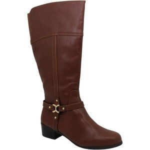 NWB Charter Club Womens Helenn4 Wide Calf Boots
